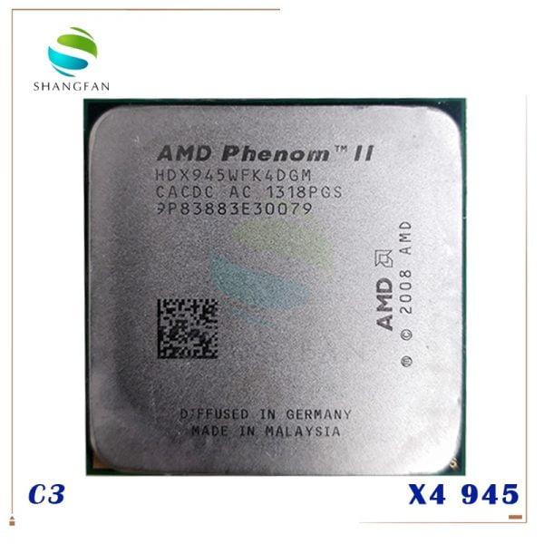 خرید سی پی یو از علی اکسپرس AMD Phenom X4 945 X4-945 Quad-Core CPU HDX945WFK4DGM Socket AM3