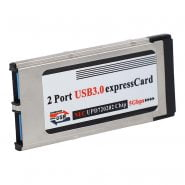 High-Speed Dual 2 Port USB 3.0 Express Card 34mm Slot Express Card PCMCIA Converter Adapter for Laptop Notebook