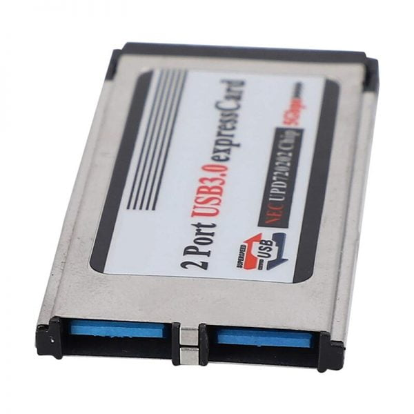 High-Speed Dual 2 Port USB 3.0 Express Card 34mm Slot Express Card PCMCIA Converter Adapter for Laptop Notebook