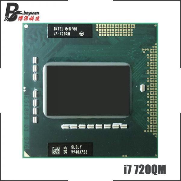 خرید سی پی یو Intel Core i7-720QM i7 720QM SLBLY 1.6 GHz Quad-Core Eight-Thread CPU 6W 45W Socket G1 / rPGA988A