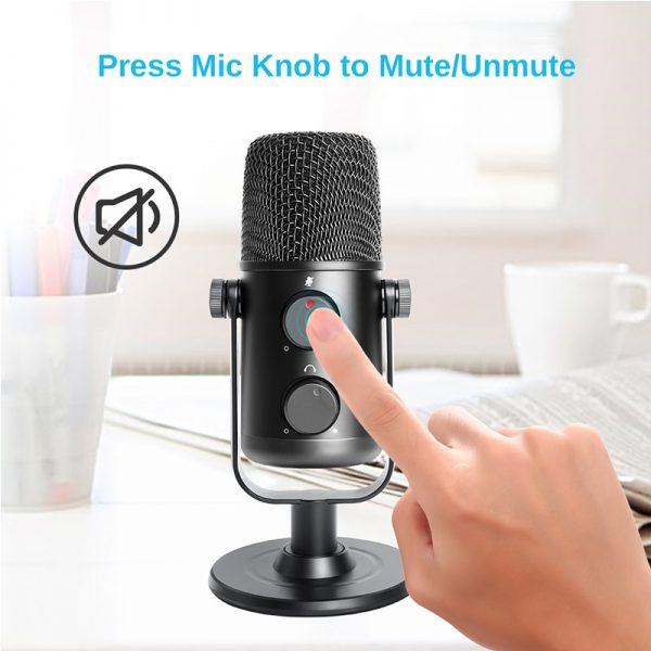 خرید میکروفون مناسب تولید پادکست MAONO AU-902 USB Condenser Microphone Cardioid Sreaming