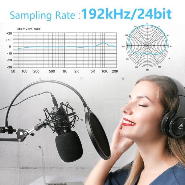 خرید میکروفون مناسب پادکست از علی اکسپرس MAONO AU-A04 USB Microphone Kit 192KHZ/24BIT Professional Podcast
