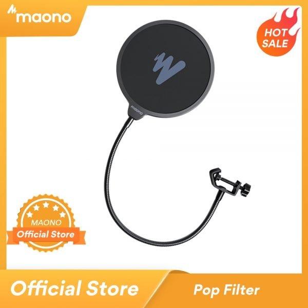 خرید میکروفون MAONO Microphone Pop Filter Metal Pop Filter Shield Double