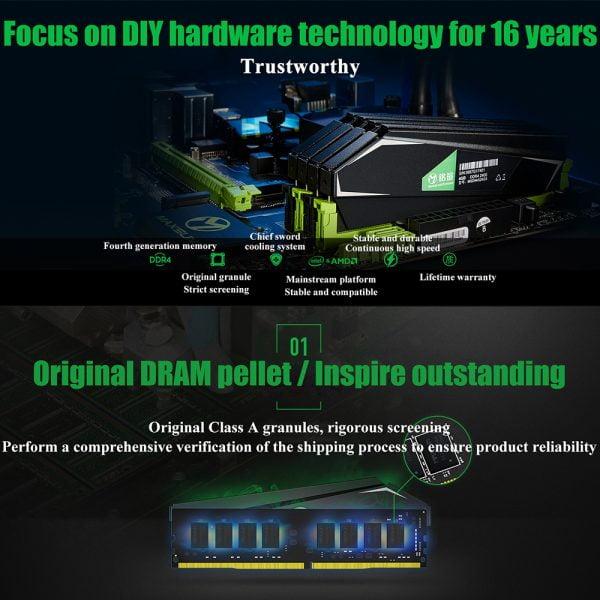 خرید رم از علی اکسپرس MAXSUN Ram DDR4 4GB 8GB 16GB Memory 2666MHz