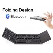خرید کیبورد انعطاف پذیر Mini Foldable Keyboard Bluetooth Wireless Keypad Mini Triple