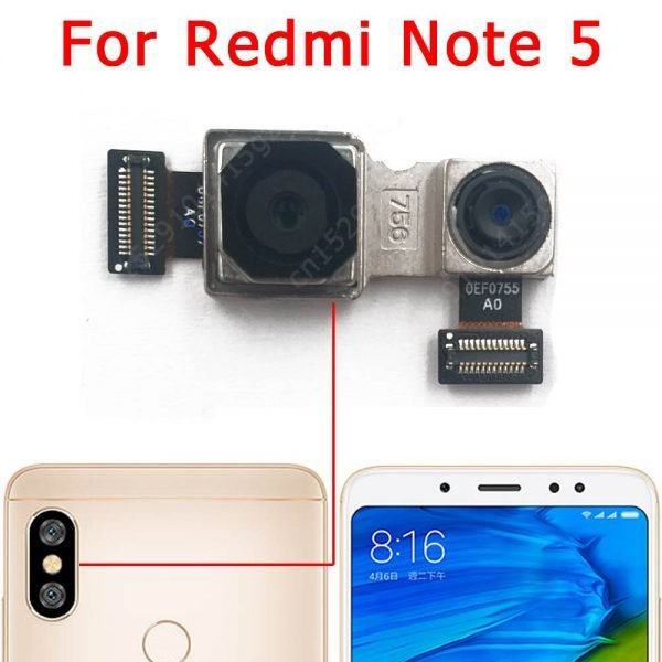 دوربین گوشی ردمی نوت 5 Original Front Rear View Back Camera For Xiaomi Redmi Note 5 Note5 Main Facing Frontal Camera Module Replacement Spare Parts