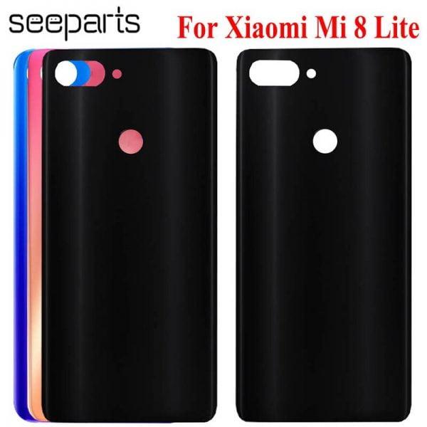 خرید درب باتری گوشی شیائومی می 8 For Xiaomi Mi8 Back Glass Housing Case 6.26″For Xiaomi Mi8 Lite Back Glass