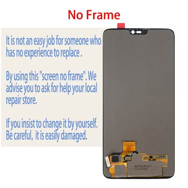 خرید تاچ و ال سی دی گوشی وان پلاس 6 .Original LCD Module For Oneplus 6 A6000 A6003 AMOLED LCD