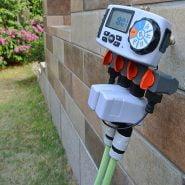 تایمر آب Aqualin Automatic 4-Zone Irrigation System Watering Timer Garden Water Timer Controller System with 2 Solenoid