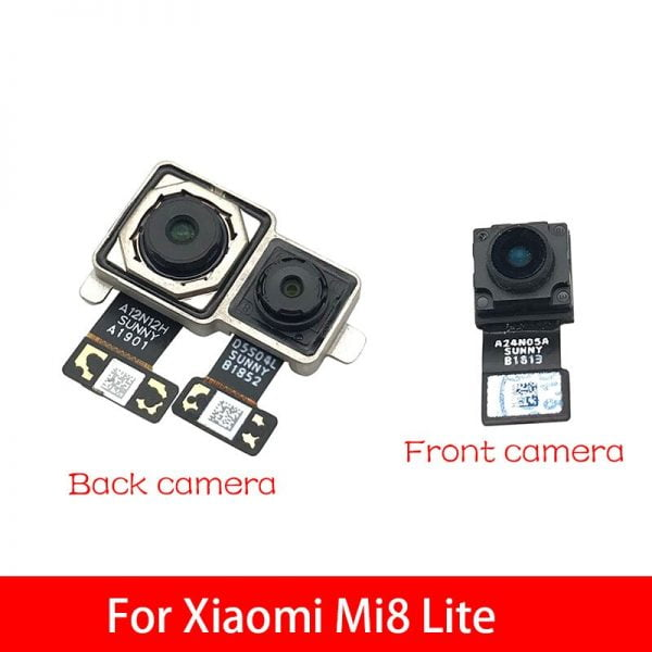 خرید دوربین گوشی شیائومی می 8 لایت Back Rear Camera Module Flex Cable Front Facing Camera For Xiaomi Mi 8 Mi8 Lite