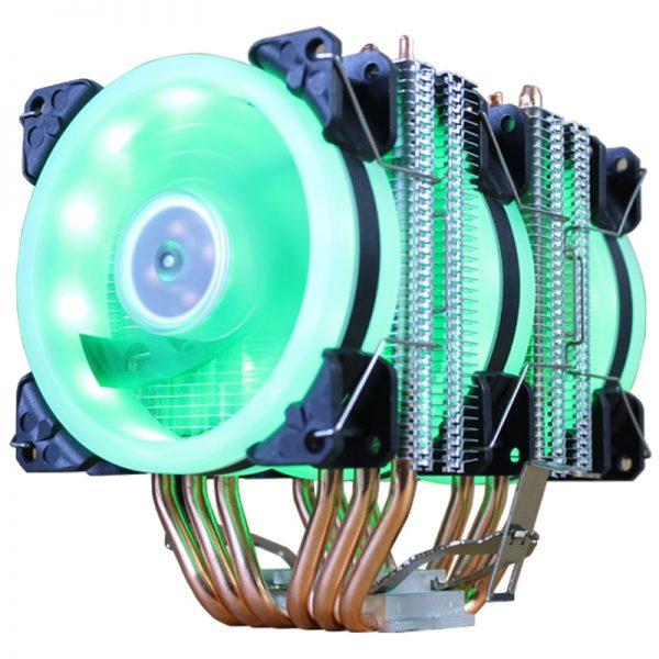 خرید خنک ننده سی پی یو از علی اکسپرس CPU Cooler High Quality 6 Heat-Pipes Dual-Tower Cooling 9cm RGB Fan LED Fan Support 3 Fans 3PIN