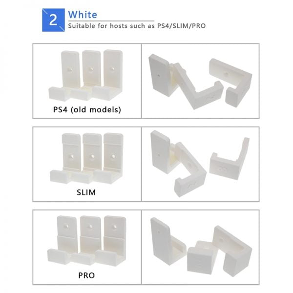 Cooling Stand Anti-Slipping Silicone Wall Mount Rack Chip Wall Stick Dock Stand Hander For PS4 PRO PS4 Slim Game Console Hanging