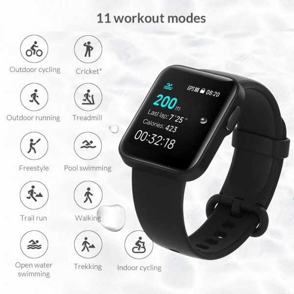 خرید ساعت هوشمند شیائومی از علی اکسپرس Global Version Xiaomi Mi Watch Lite GPS Sports Smart Watch