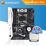 خرید مادربرد از علی اکسپرس HUANANZHI X99 TF Motherboard combo kit set Intel XEON E5 2678 support DDR3 DDR4 RECC NON-ECC memory M.2 NVME USB3.0 ATX