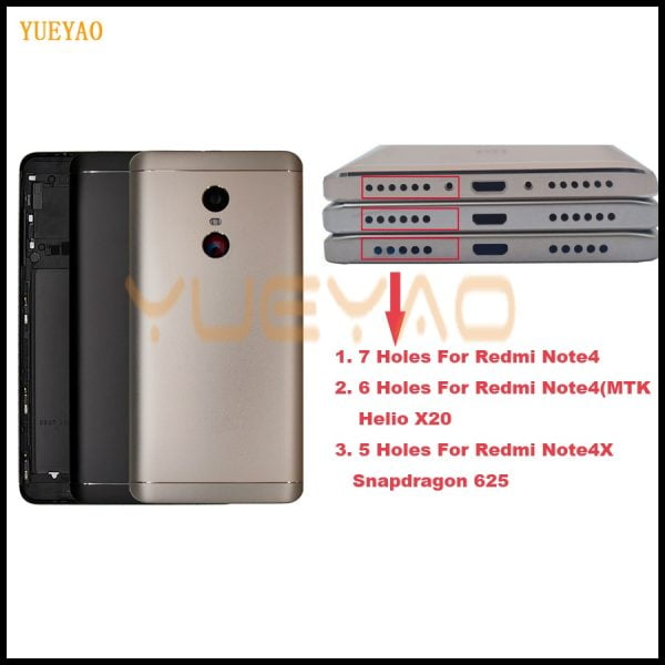خرید درب باتری گوشی ردمی نوت 4 MTK Helio X20 Back Cover For Xiaomi Redmi Note 4 Battery Back Cover Case Redmi Note 4