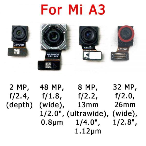 خرید لنز دوربین گوشی شیائومی سری می Original Front Rear Back Camera For Xiaomi Mi A1 5X A2 Lite 6X A3