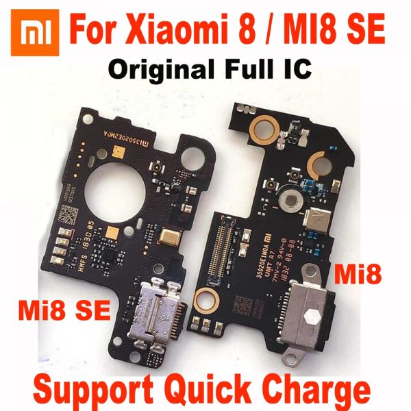 خرید میکروفون و برد شارژ شیائومی می 8 اس ای Original Full IC Mi 8 MI8 USB Quick Charging Port Board Flex Cable Connector For Xiaomi MI8 SE