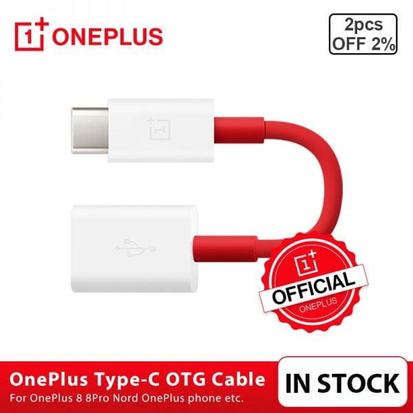 خرید کابل Original OnePlus Type-C OTG Cable For OnePlus 7 7 Pro 8 8 Pro Nord