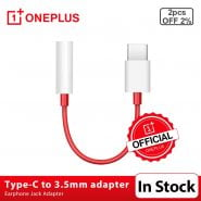 خرید تبدیل تایپ سی برای وان پلاس Original Oneplus Earphone Jack Adapter Type-C To 3.5mm Headphone Converter Cable For OnePlus 6T 7 7Pro 7T 7T Pro 8 8Pro
