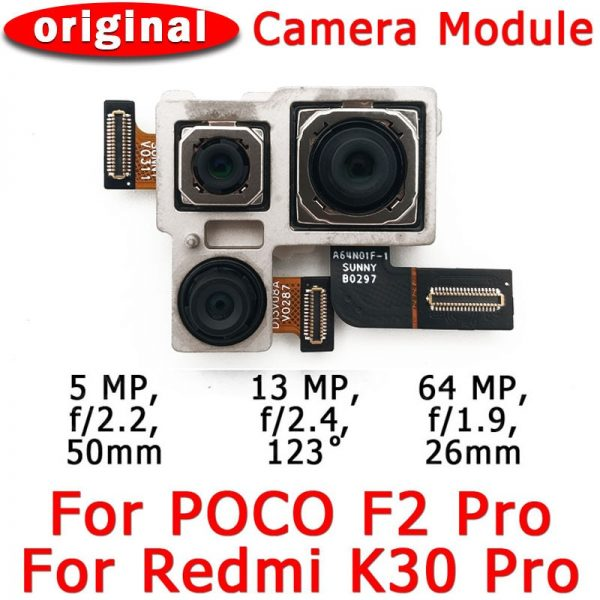 خرید لنز دوربین اصلی گوشی شیائومی از علی اکسپرس Original Rear View Back Camera For Xiaomi Mi Poco F2 Pro PocoF2 F2Pro Redmi K30