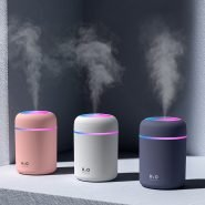 دستگاه بخار سرد فندکی Portable Air Humidifier 300ml Ultrasonic Aroma Essential Oil Diffuser