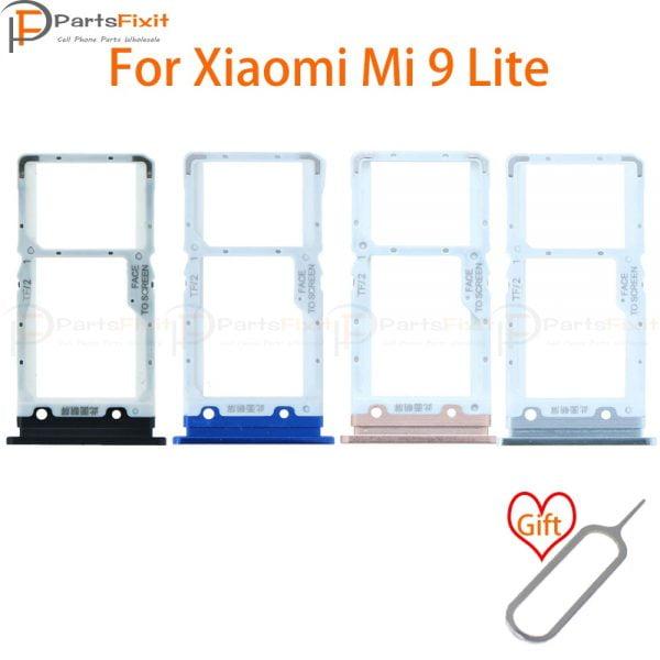 خرید اسلات سیم کارت شیائومی می 9 لایت از علی اکسپرس SIM Card Tray for Mi9 Lite SIM Card Slot Mi9Lite SIM Card Holder Card Adapter for Mi 9 Lite