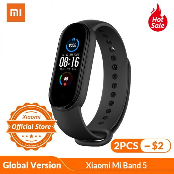 خرید می بند 5 از علی اکسپرس Xiaomi Mi Band 5 Global Version Smart Bracelet