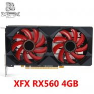 خرید کارت گرافیک 100% XFX Video Card RX 560 4GB 128Bit GDDR5 Graphics Cards for AMD RX 500 rx 560d RX560 4G DisplayPort HDMI DVI 7000MHz Used