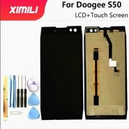 خرید تاچ و ال سی دی گوشی دوجی اس 50 5.7 Inch For Doogee S50 LCD Display Touch Screen For Doogee S50 100% Tested Screen Digitizer Assembly Replacement Free Tools