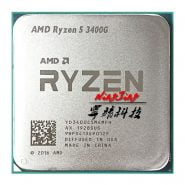 خرید سی پی یو از علی اکسپرس AMD Ryzen 5 3400G R5 3400G 3.7 GHz Quad-Core Eight-Thread 65W CPU Processor L3=4M YD3400C5M4MFH Socket AM4 New but no fan