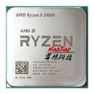 خرید سی پی یو از علی اکسپرس AMD Ryzen 5 3400G R5 3400G 3.7 GHz Quad-Core Eight-Thread 65W CPU Processor L3=4M YD3400C5M4MFH Socket AM4 New but no fan