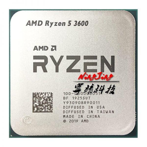 خرید سی پی یو از علی اکسپرس AMD Ryzen 5 3600 R5 3600 3.6 GHz Six-Core Twelve-Thread CPU Processor 7NM 65W L3=32M 100-000000031 Socket AM4 new but no fan