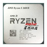 خرید سی پی یو AMD Ryzen 5 3600X R5 3600X 3.8 GHz Six-Core Twelve-Thread CPU Processor 7NM 95W L3=32M 100-000000022 Socket AM4 new but no fan