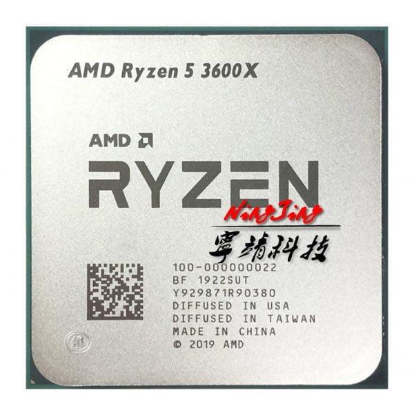 خرید سی پی یو AMD Ryzen 5 3600X R5 3600X 3.8 GHz Six-Core Twelve-Thread CPU Processor 7NM 95W L3=32M 100-000000022 Socket AM4 new but no fan
