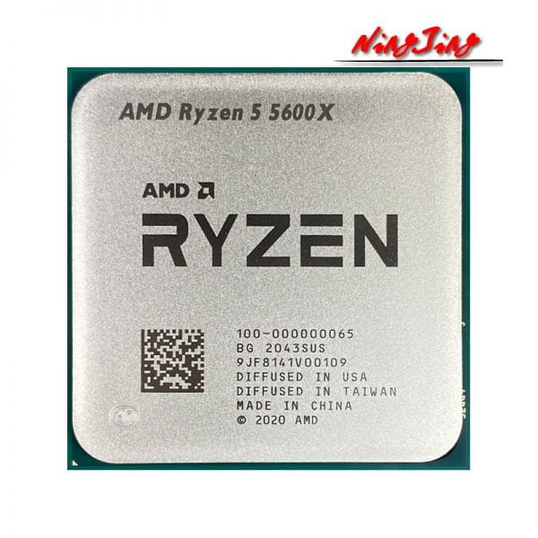 خرید سی پی یو AMD Ryzen 5 5600X R5 5600X 3.7 GHz 6-Core 12-Thread CPU Processor 7NM 65W L3=32M 100-000000065 Socket AM4 New but without cooler