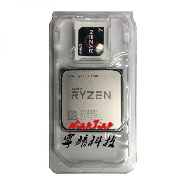 خرید سی پی یو ارزان AMD Ryzen 7 2700 R7 2700 3.2 GHz Eight-Core Sixteen-Thread CPU Processor L3=16M 65W YD2700BBM88AF Socket AM4 New and without fan