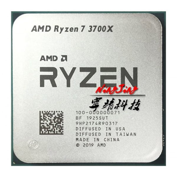 خرید سی پی یو AMD Ryzen 7 3700X R7 3700X 3.6 GHz Eight-Core Sixteen-Thread CPU Processor 7NM L3=32M 100-000000071 Socket AM4 new but no fan