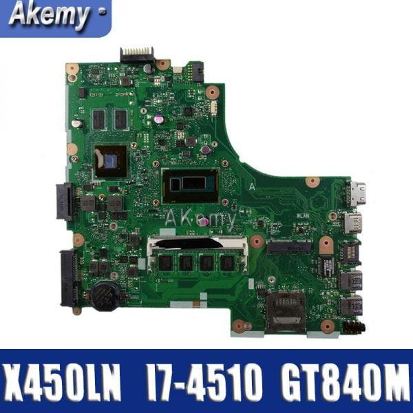 خرید مادربرد لپ تاپ ایسوس For Asus X450LD X450LN Y481L F450L laptop motherboard tested 100% work original mainboard I7-4510 4GB Memory GT840M