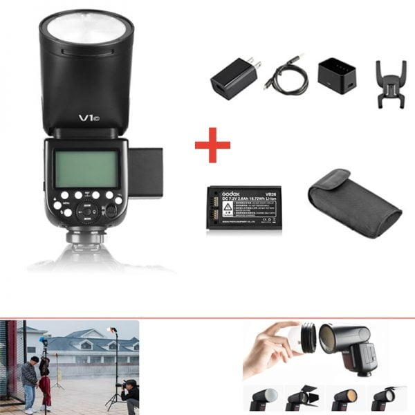 خرید فلش دوربین از علی اکسپرس Godox V1 Flash V1S/V1N/V1C TTL Li-ion Round Head Camera Speedlight Flash For Sony/Nikon/Canon/Fujifilm/Olympus