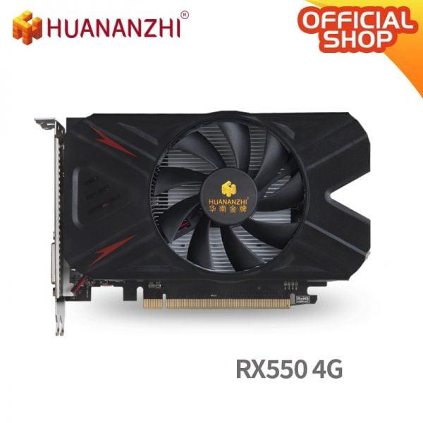 خرید کارت گرافیک HUANANZHI RX 550 4G graphics card 128Bit GDDR5 4096MB 1183MHz DVI DP HDMI-Compatible 14Nm 512Units 80W Video Card