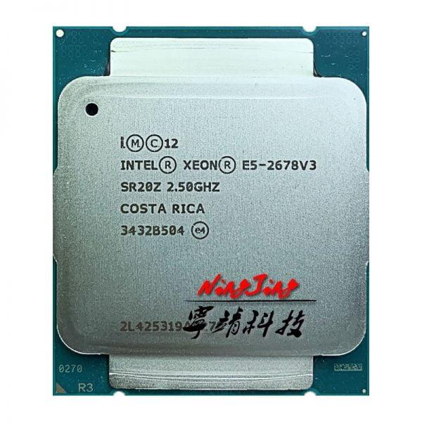 خرید سی پی یو از علی اکسپرس Intel Xeon E5-2678V3 E5 2678v3 E5 2678 v3 2.5 GHz Twelve-Core Twenty-four-Thread CPU Processor 30M 120W LGA 2011-3