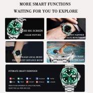 خرید ساعت مچی مردانه از علی اکسپرس LIGE Smart Watch Men SmartWatch Full Touch Screen Bluetooth call music player For Android iOS Waterproof Fitness Watches men's