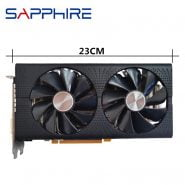 خرید کارت گرافیک از علی اکسپرس Original SAPPHIRE RX 580 4GB Video Card GPU AMD Radeon RX580 4GB 584 Graphics Cards Desktop PC Computer Game Map HDMI Not Mining