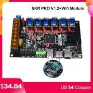 خرید برد پرینتر سه بعدی BIGTREETECH SKR PRO V1.2 Controller Board 32 Bit Wifi Adapter Module 3D Printer Parts vs MKS GEN L TMC2208 TMC2130 TMC2209