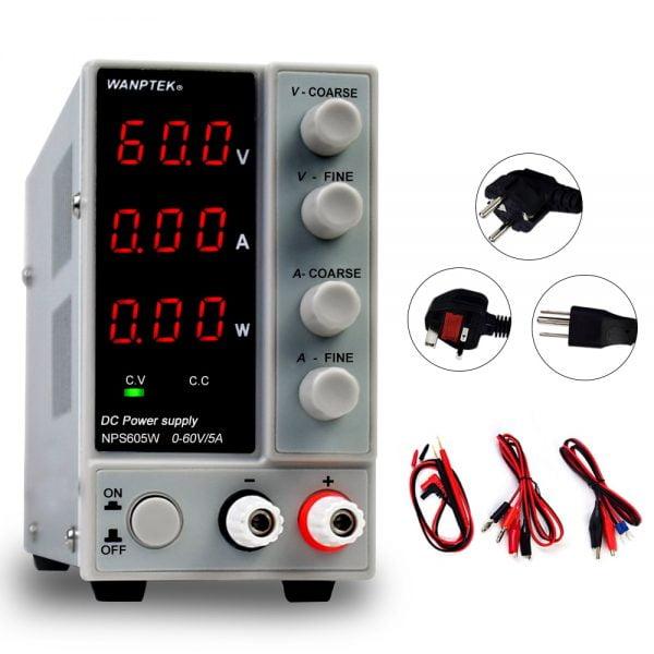 خرید از علی اکسپرس DC Laboratory 30V 10A mini switching regulated lab adjustable dc power supply with Stabilizer power display 60V 5A