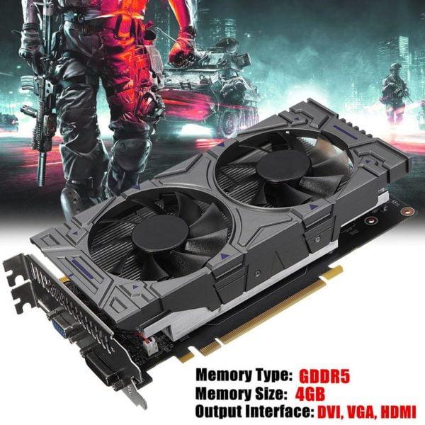 خرید کارت گرافیک از علی اکسپرس Gtx1050Ti 4GB Ddr5 128Bit Computer Game Graphics Cards For AMD RX 500 Series VGA Cards RX560 470 570 460 580 480