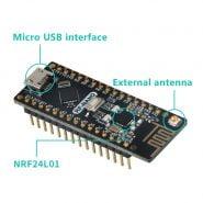 Keywish Rf-Nano Voor Arduino Nano V3.0, micro Usb Nano Board ATmega328P QFN32 5V 16M CH340, Integreren NRF24l01 2.4G Draadloze