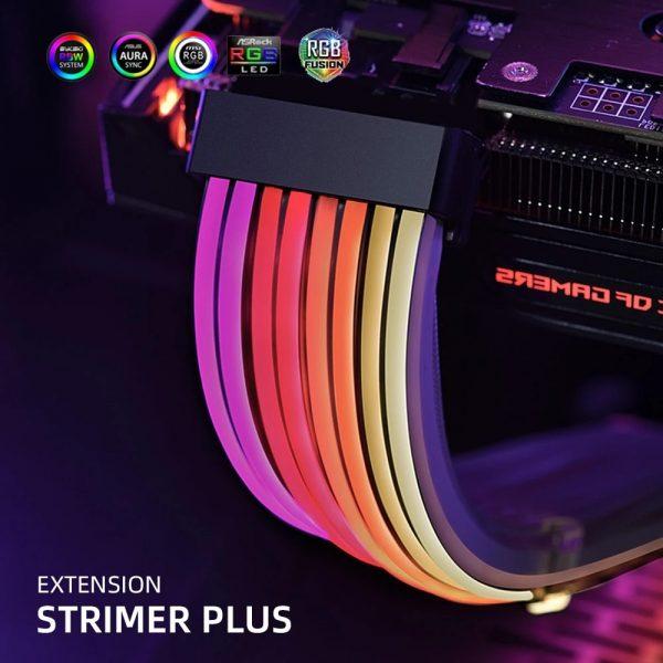 LIANLI Strimer Plus RGB Motherboard Extension ATX 24PIN,GPU Extension Double/Triple 8PIN LIANLI Generation 2 Cable PC Decoration