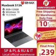 خرید لپ تاپ از علی اکسپرس Newest BMAX S13A 13.3″ Celeron N3350 1920×1080 IPS Notebook 8GB RAM 128GB ROM Laptops Windows 10