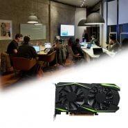 خرید کارت گرافیک از علی اکسپرس Professional GTX1050TI 4GB DDR5 Graphics Card Green 128Bit HDMI DVI VGA GPU Game Video Card For NVIDIA PC
